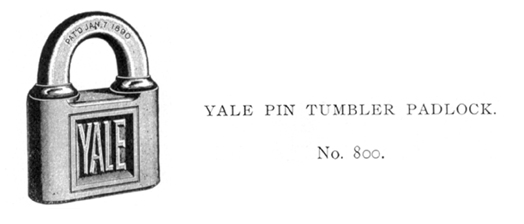 Pin tumbler lock or Yale lock